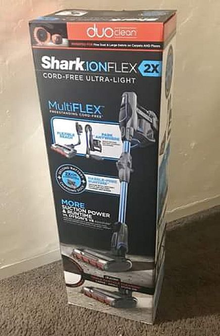 ad shark ionflex 2x duoclean cordless ultra-light vacuum