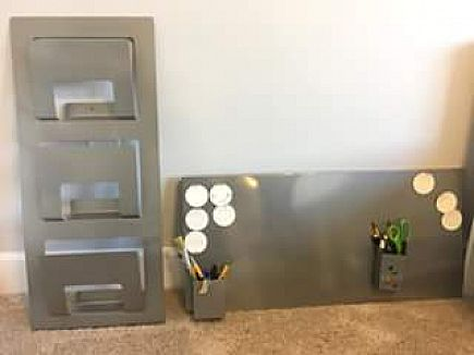 ad ikea magnetic board and magazine holder