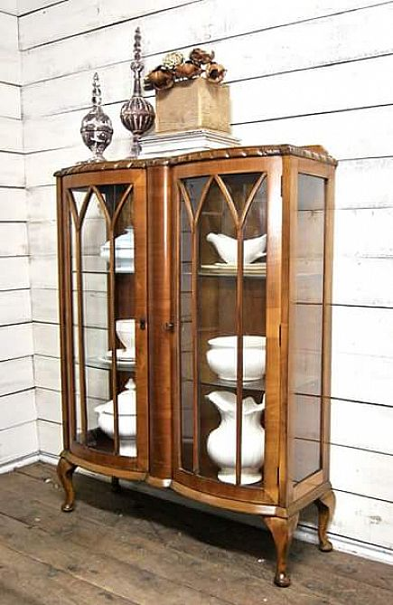 ad several antique / vintage glass door curio cabinets available