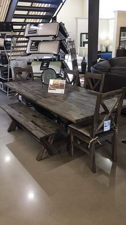 """ad vintage gray dining table 