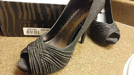 ad moda size 8 black fabric shoes