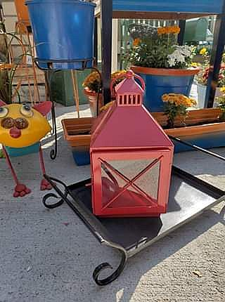 ad red candle lantern