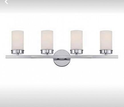 ad kandinsky collection 4-light chrome vanity light with opal glass shades