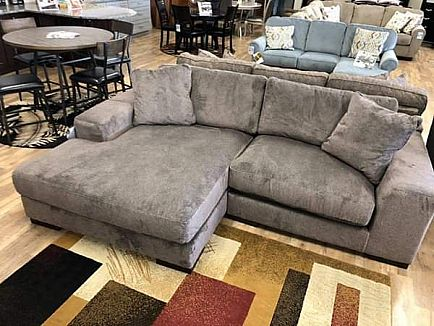 ad ultra plush sectional sofa with extra wide chaise - new