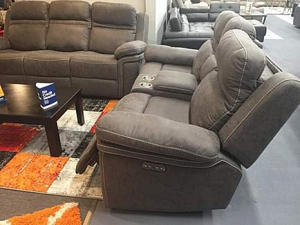 ad brand new power reclining sofa and loveseat with adjustable headrests and usb ports