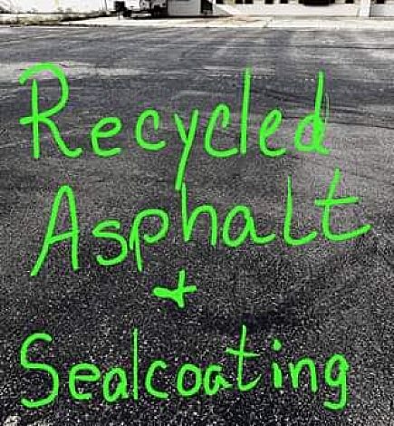 ad recycled asphalt**hot mix**seal coating