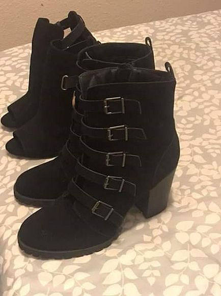 ad brand new high heel boots and heels