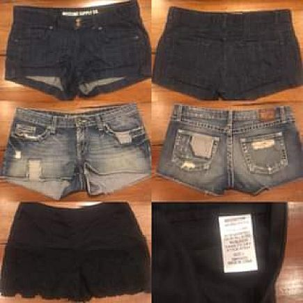 ad multiple pairs of women's shorts for sale!!
