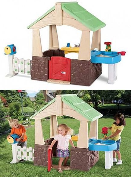 ad little tykes deluxe home and garden playhouse
