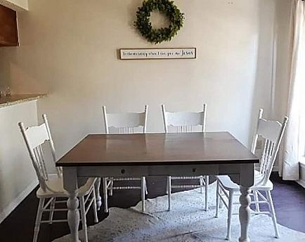 ad farmhouse kitchen table with 4 chairs