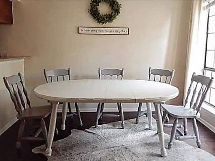 ad farmhouse kitchen set with 5 chairs