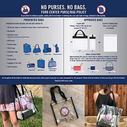 ad monogrammed/personalied clear stadium security bags-sporting events, concerts, beach, etc...