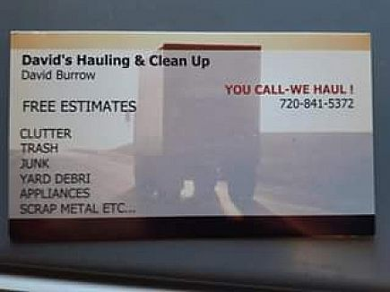 ad junk removal services. davids hauling and clean up