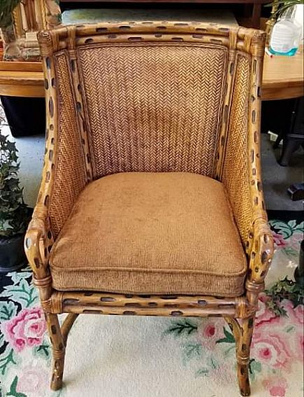 ad beautiful solid and comfortable bentwood and wicker armshair