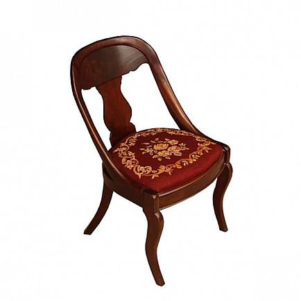 ad beautiful victorian needlepoint side chair