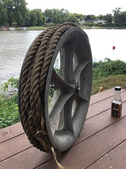ad ensley 2 foot pulley with rope