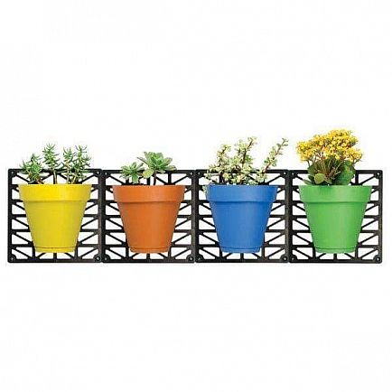 ad toyzor.com - indoor / outdoor wall hanging planters with 4 pots