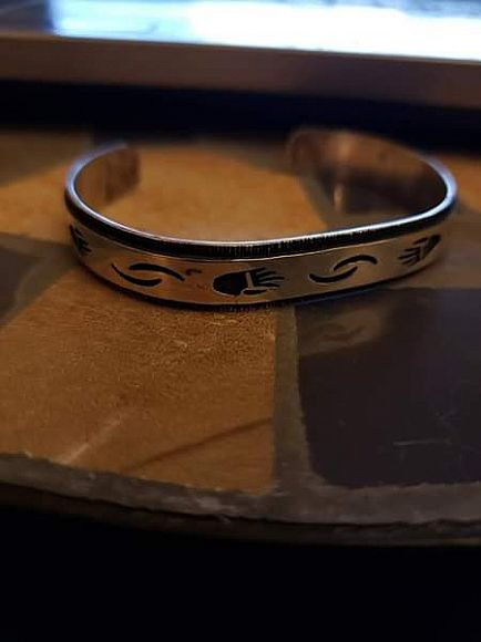 ad hopi signed sterling cuff