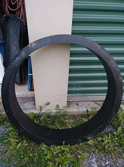 ad new black steel fire ring