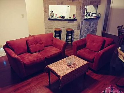 ad love seat and arm chair