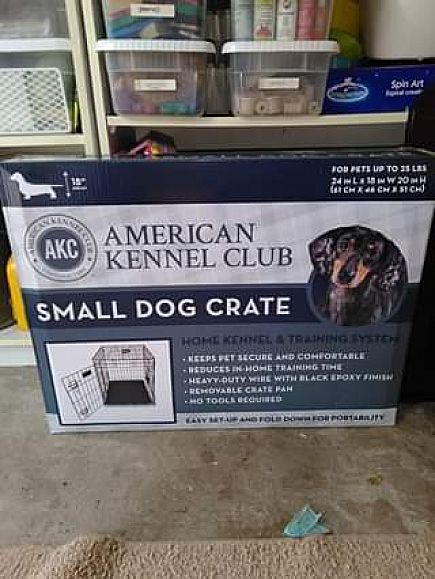 ad small dog krate