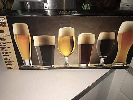 ad set of beer glasses