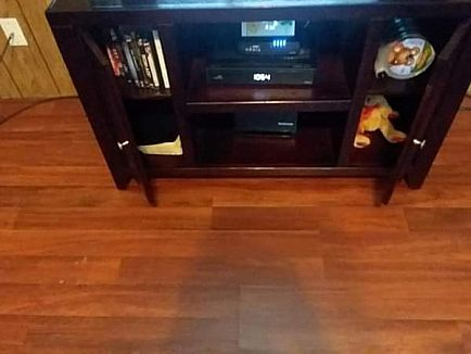ad entertainment center cherry wood