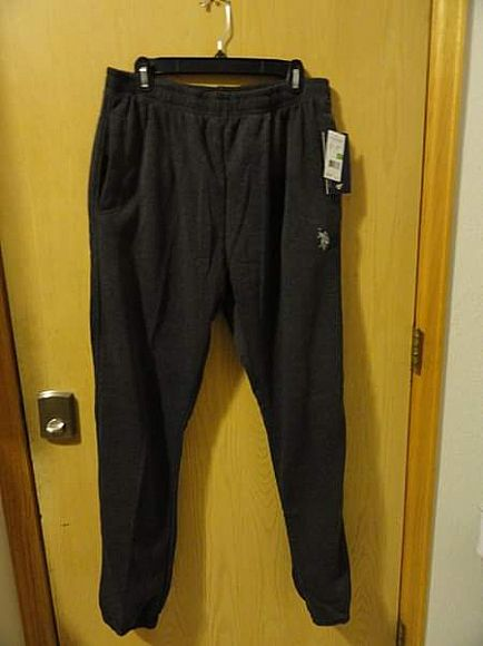 ad nwt - us polo assn mens lounge pants - size l - $10