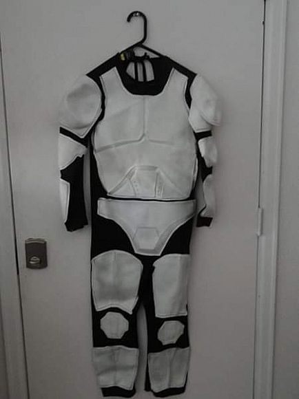 ad storm trooper costume child size large