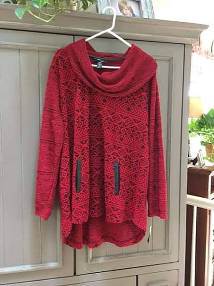 ad style and co. cowl neck sweater, new