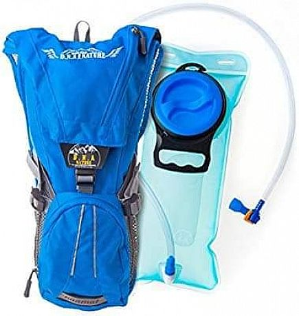 ad hydration backpack of d.n.a nature with 2l bladder . best for running skiing climbing and even for j