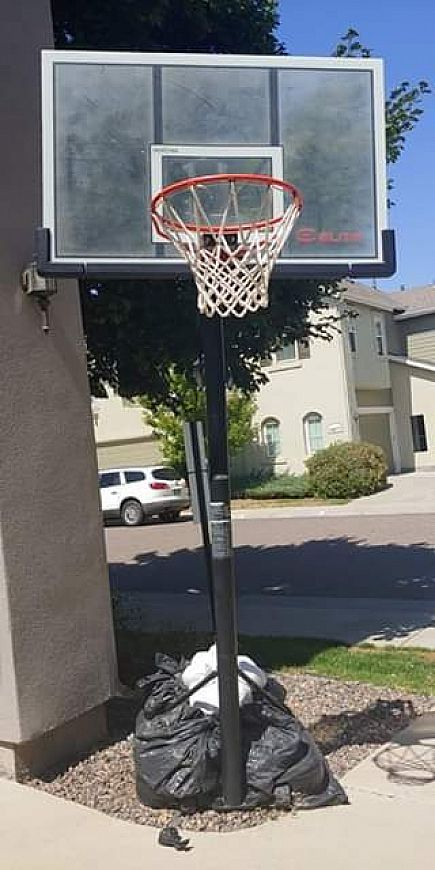 ad basketball hoop, adjustable