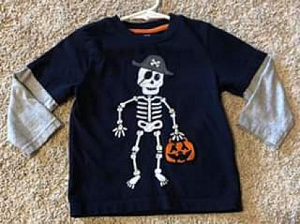 ad halloween shirt - pirate skeleton