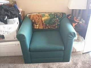 ad green armchair