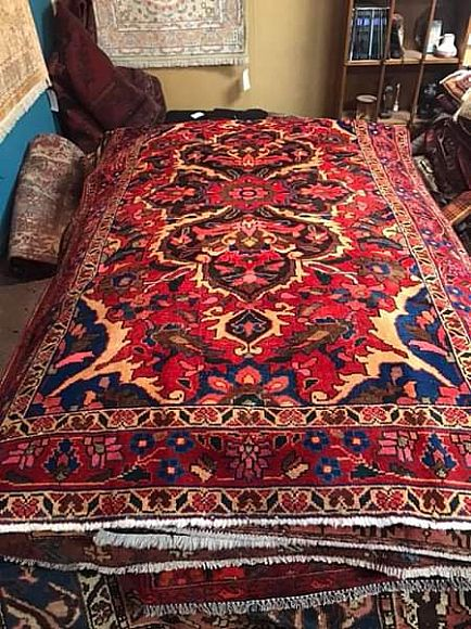 ad 1940's hand knotted persian bakhtiarie rug