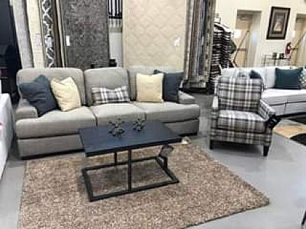 ad ashley sofa/couch and accent chair - brand new!