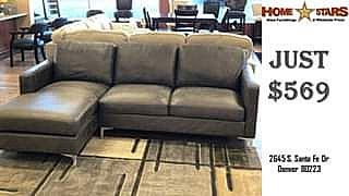 ad 87 gray - european style micro-suede couch - brand new