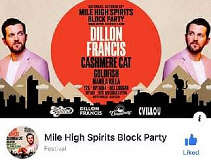 ad mile high block party ga ticket.