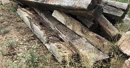 ad free railroad ties for landscaping