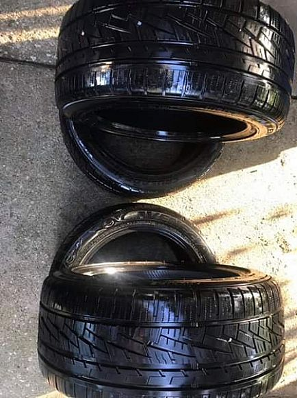 ad set of 4 tires great condition 245/45/17 pickup plano today