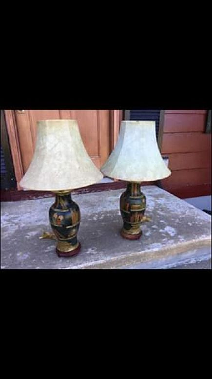 "ad lamps great for reading room or den 28"" tall excellent shape"