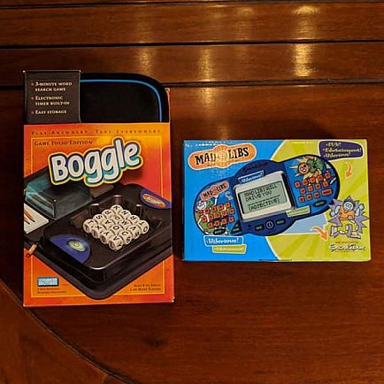 ad games (boggle and mad libs)