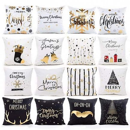 ad christmas coton pillow decoration for home & gifts