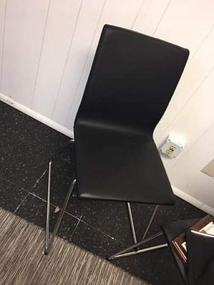 ad 3 black chairs (pleather padding)