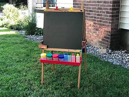 ad melissa & doug easel with accessories