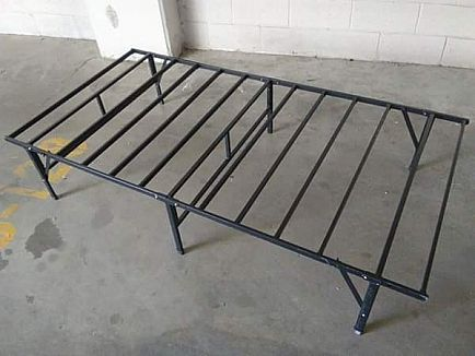 ad foldable twin, metal slat bed frame
