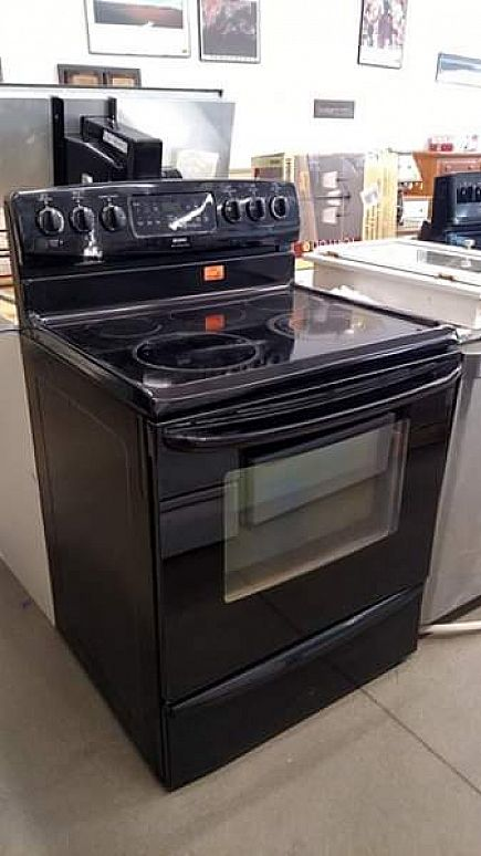 ad kenmore black glass top stove