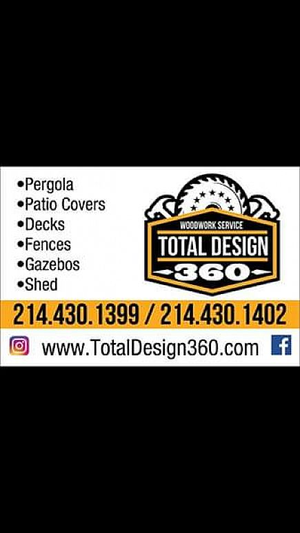 ad patio cover, pergola, out door kitchen, decks, fence, barn door ,wooden wall and more...