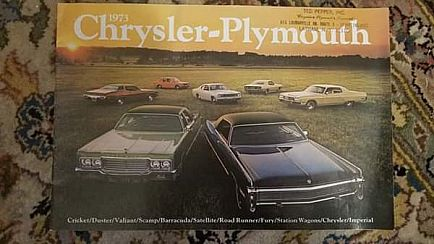 ad 1973 chrysler-plymouth brochure from dealer