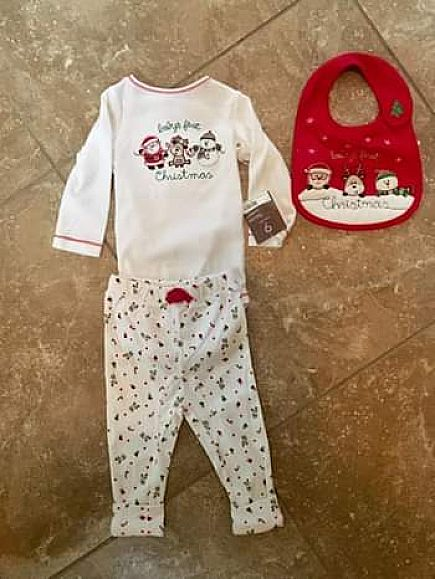 ad nwt 9 month 1st christmas